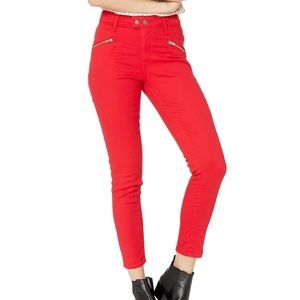 Levi's® 721 • Red High-Rise Moto Ankle Skinny Jean